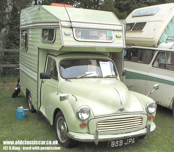 mini motorhome | Minor Camper from Morris. Built in: 1960s. Colour(s): Light green.