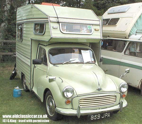 mini motorhome | Minor Camper from Morris. Built in: 1960s. Colour(s): Light green.