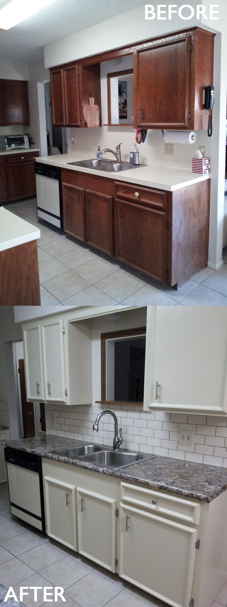 17 best images about before and after remodeling on for Before and after pictures of painted laminate kitchen cabinets