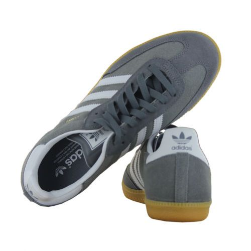 designer outlet gray sambas l7ca  Adidas Samba Suede Leather Grey Mens Trainers  eBay