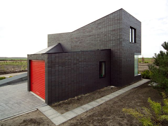 Modern Minimalist Brick House Stylish Architecture