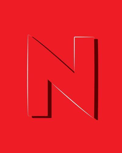 Alphabet Deconstructed Letter N Art Print By ModernPOP