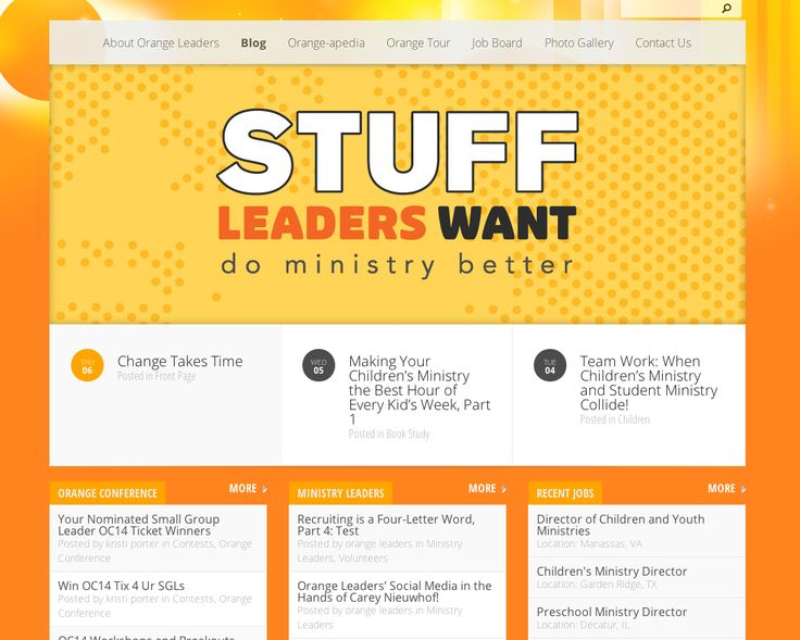 Orange Leaders blog serves to inspire, encourage and educate leaders in churches who are utilizing the Orange Strategy to impact the next generation. Follow our blog for informative articles, company announcements, videos, testimonies and contests. #ThinkOrange