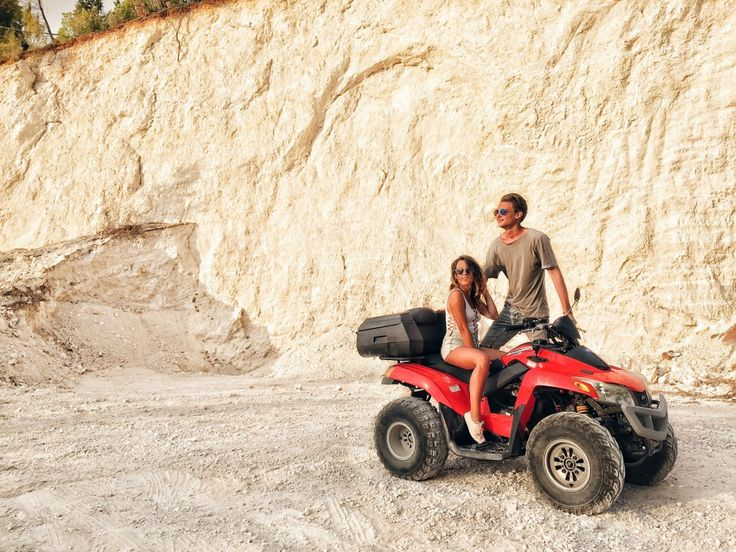 couple ATV ride in Porto Katsiki Beach Lefkada Greece