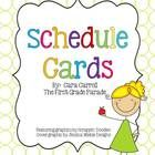 Schedule Cards {The First Grade Parade} from Carol, great web site.