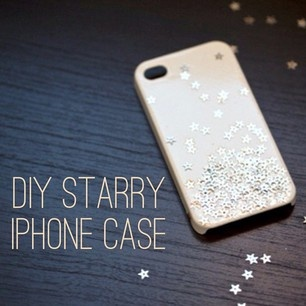 DIY Starry iPhone Case.