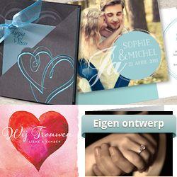Zelf trouwkaarten (uitnodigingen bruiloft) ontwerpen