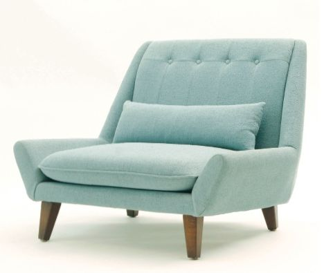 Cool chair, looks mid century modern, it's smiling too!