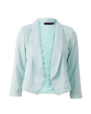 mint cropped blazer! €49! so easy to throw overjeans and a white tee for a casual chic look!