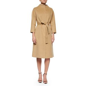 Carolina Herrera Double-Faced Belted Wrap Coat