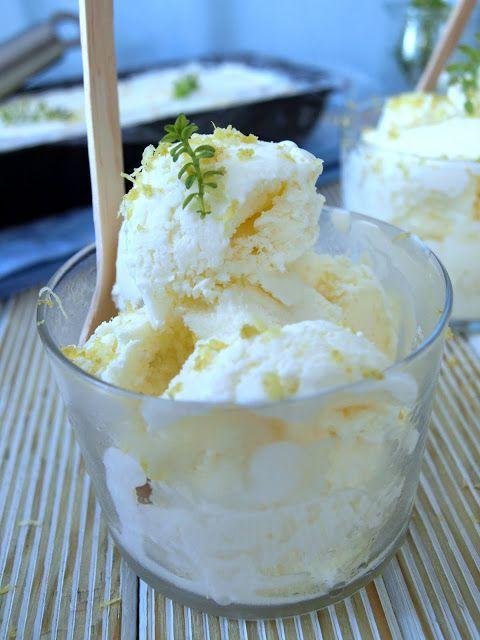Flor de canela: Easy helado de limón, tomillo y yogurt