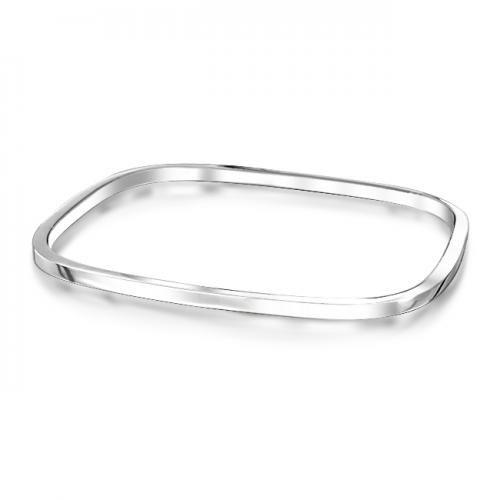 Stackable Square Bangle Bracelet 925 Sterling Silver