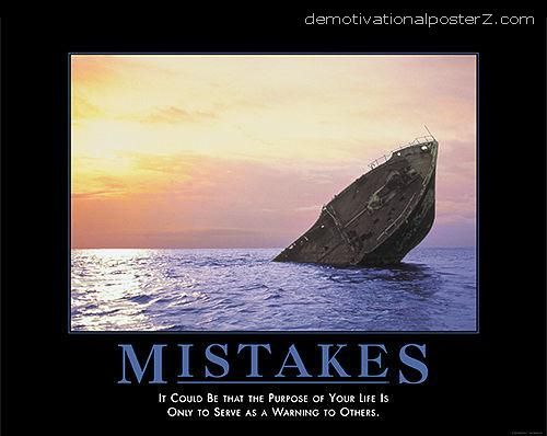 demotivational poster sinking ship   ... of your life is ...