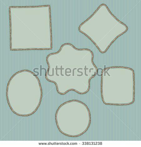 Hand drawn, doodle style creative decorative frames. Vector retro illustration - stock vector
