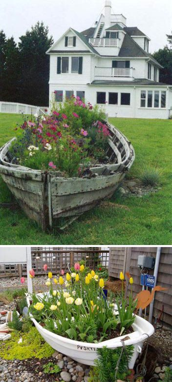 We have a old boat... can't wait to try this out! I was going to use it to grow veggies- but flowers are so much better!