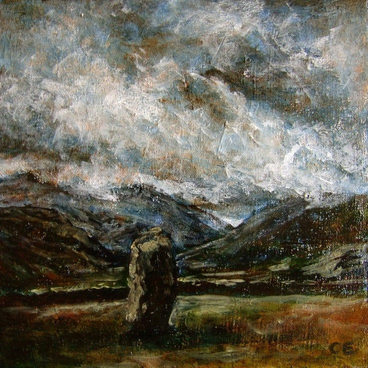 """Saatchi Online Artist: Catherine Edmunds; Acrylic, 2011, Painting """"Borrowdale from Castlerigg"""""""