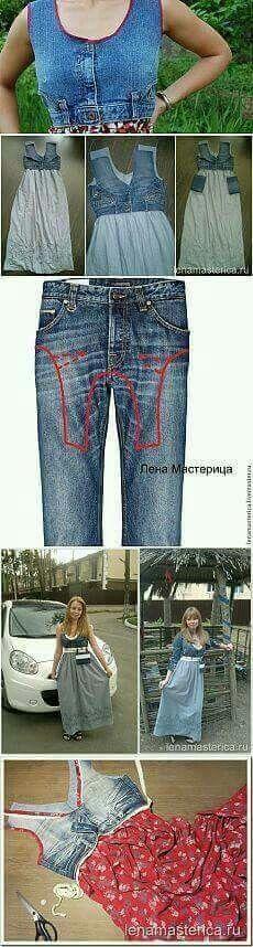 Vestido con jean