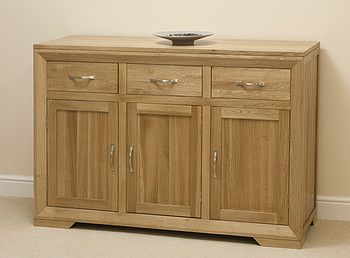 Bevel Solid Oak Large Sideboard