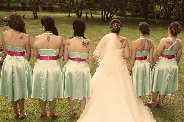 Tattoed bride's maid