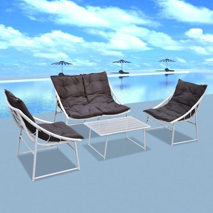 Spectacular x Rattan Gartenm bel Gartenset Sitzgruppe Garnitur Essgruppe Sessel wei