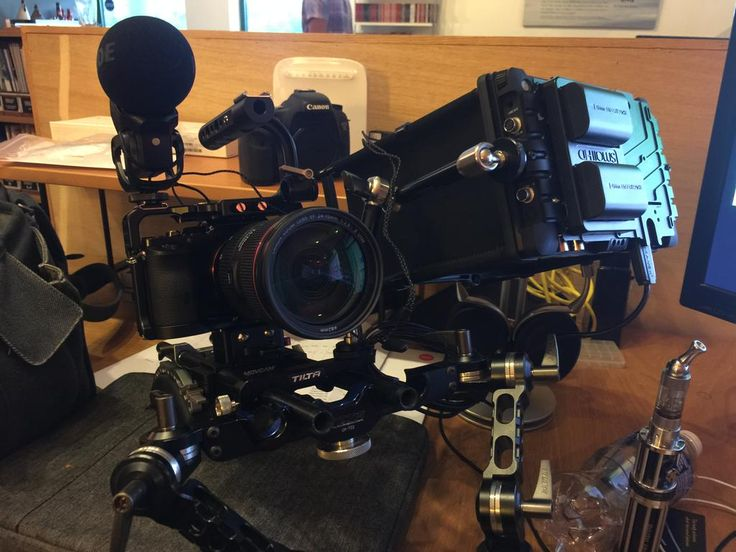 """#RIGSHOTS @focuspulling: """"Rigged up our #a7S with @SmallHD DP7"""" by @robtylerfilms"""