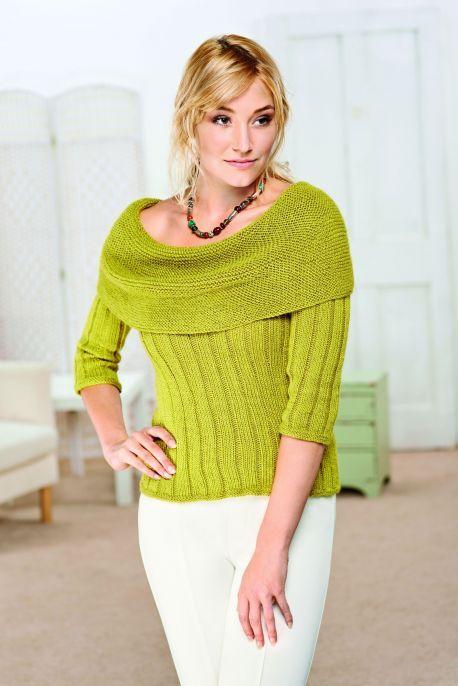Клобук-образный вырез свитера
