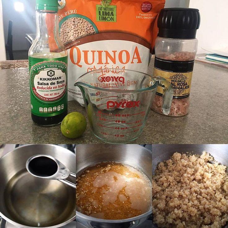 Receta para preparar Quinoa básica ~1 persona~ • Lavas muy bien 1/3 taza de Quinoa (directo a la salida de agua hasta que salga bien limpia). • Pones a hervir 300 ml de agua. • Agregas al agua el jugo de 1 limón 🍋 + 1 cucharadita de salsa de soya + 1 pizca de sal. • Agregas la Quinoa al agua hirviendo. • Dejarla 1-2 min y proseguir la cocción a fuego lento por 10-15 min, hasta que el agua se evapore y la Quinoa esté esponjosa.  Listo! 🎉🎉 ⏰ Se puede conservar hasta 1 semana en el…