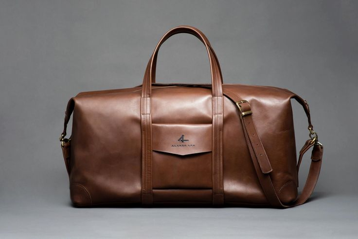 ALXNDR LEN Big size leather Duffle Bag