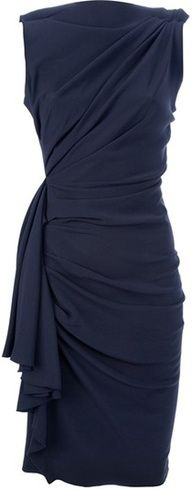 Frockage | www.myLusciousLife.com -  Lanvin Draped and Gathered Fitted Dress in Black