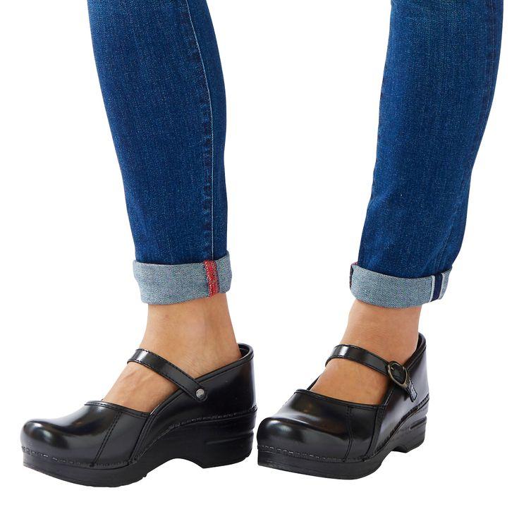 Dansko Shoes Womens Clogs Marcelle Leather  Black Patent