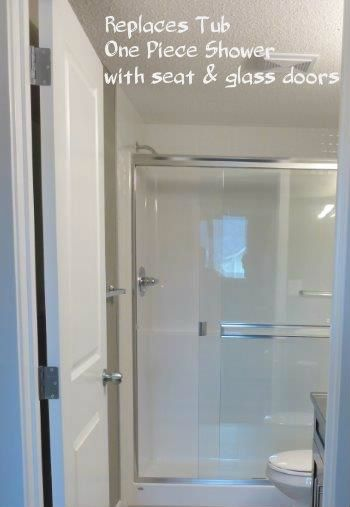 Upgrade remove tub and install one piece shower stall with glass doorsBest 25  One piece tub shower ideas on Pinterest   One piece  . One Piece Tub Shower Enclosure. Home Design Ideas