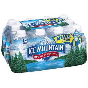 Ice Mountain 100% Natural Spring Water, 12pk
