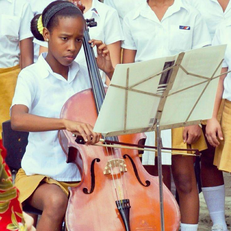 Young cuban cellist. Havana.