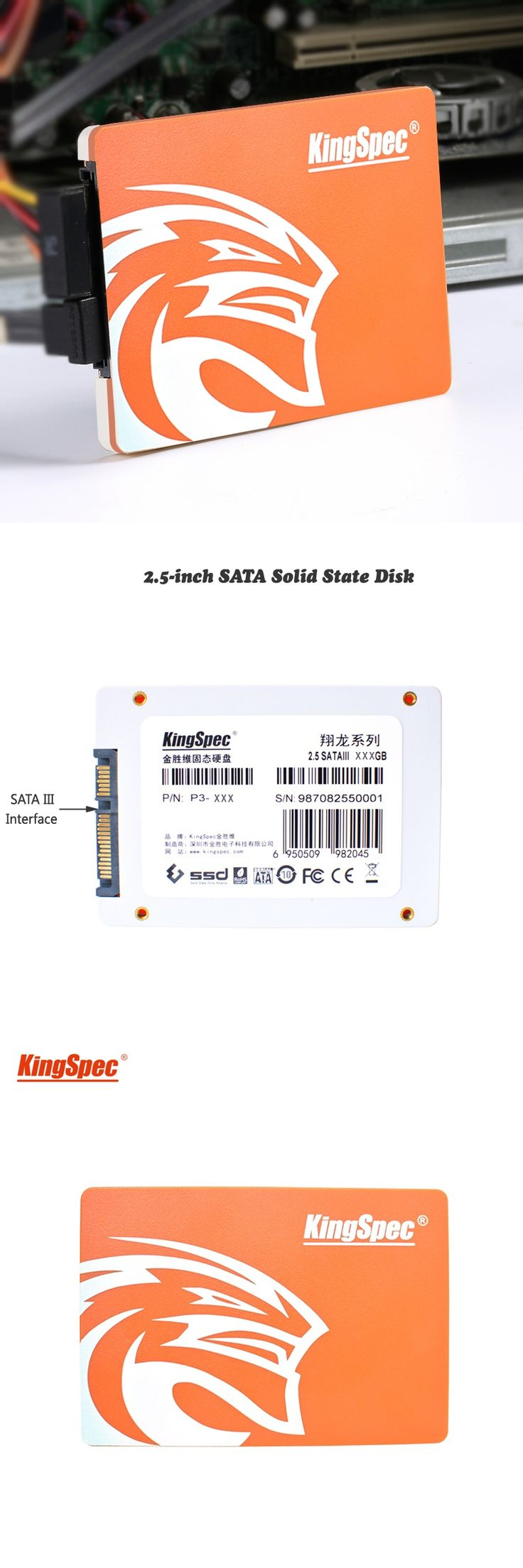 "P3 series brand kingspec 7mm 2.5""SSD/HDD 120GB