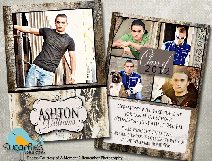 Graduation Announcement Templates - Senior Graduation Announcements 3. $8.00, via Etsy.