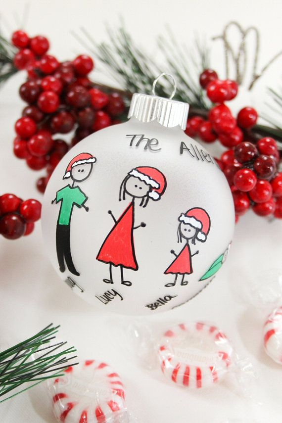 Personalized Family Christmas Ornament by BabyGeneration, $10.00