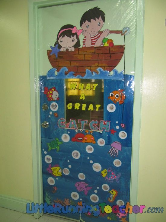 school bulletin board fishing | What A Great Catch Door Decoration