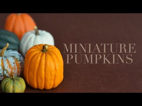 Miniature Pumpkins Tutorial