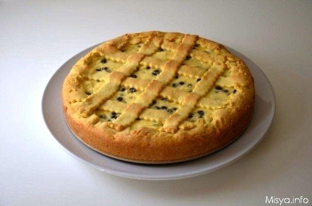 » Crostata con ricotta e gocce di cioccolato Ricette di Misya - Ricetta Crostata con ricotta e gocce di cioccolato di Misya