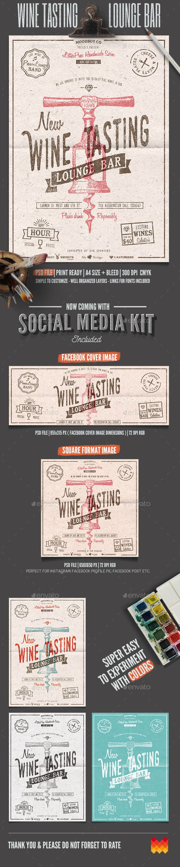 Poster design dimensions - Buy Wine Tasting Lounge Flyer Poster By Moodboy On Graphicriver Wine Tasting Lounge Flyer Poster This Flyer Poster Was Designed To Promote Wine
