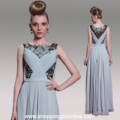 Grey Prom Dress - A-line Elegant Chiffon $200.80 (was $251) Click here to see more details http://shoppingononline.com/prom-dresses/grey-prom-dress-a-line-elegant-chiffon.html #GreyPromDress #ChiffonPromDress #ElegantPromDress #GreyDress #Grey #PromDress