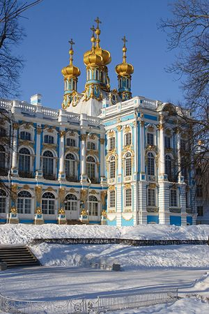 Catherine Palace at Tsarskoe Selo (Pushkin), St. Petersburg, Russia