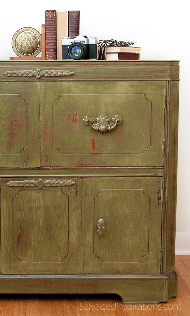Salvaged Inspirations | Re-Purposed Vintage Radio Cabinet Painted in Old Fashion Milk Painted