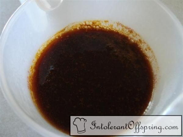 Soy free soy sauce    1 1/2 cups beef or vegetable stock  4 tsp. balsamic vinegar  2 tsp. molasses  1/4 tsp. ginger  1/8 tsp. white pepper  1/8 tsp. garlic powder  1 tsp. salt    In a medium saucepan, stir all ingredients together.  Boil until liquid is reduced to 1 cup, about 8-10 minutes.  Refrigerate.