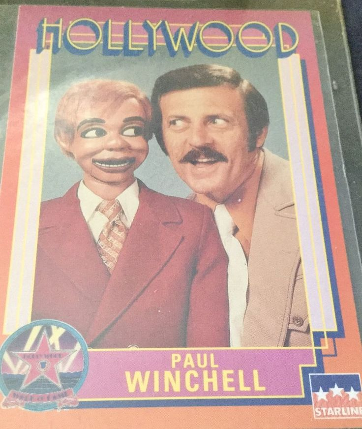 1991 HOLLYWOOD WALK OF FAME # 219.  PAUL WINCHELL