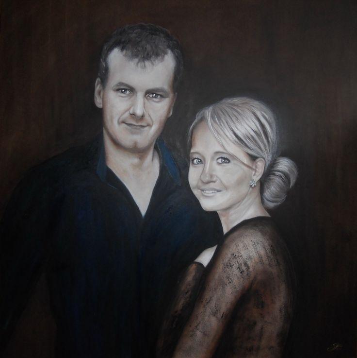 Portréty na zakázku olej na plátně 80x80cm