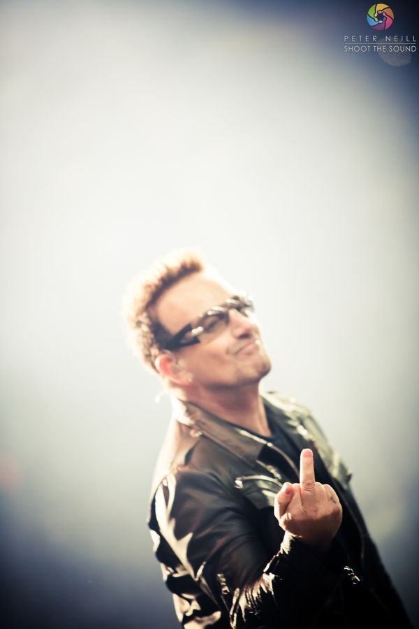 """Bono flipping me off!"" by Peter Neill, via 500px."