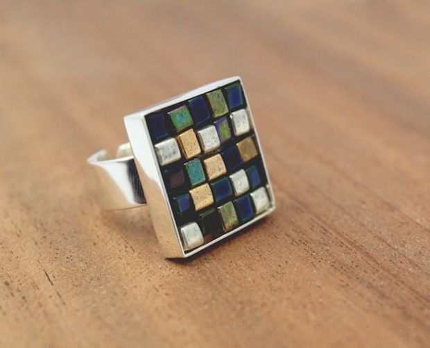 How-To: Glass Bead Mosaic Ring
