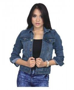 jaket wanita modis berbahan denim | tokofobia.com toko fashion online murah dan berkualitas