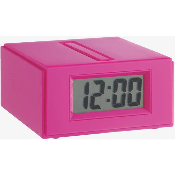 Pink Talking Alarm Clock (27 SAR) ❤ liked on Polyvore featuring home, home decor, clocks, cerise pink, battery operated alarm clock, pink clock, traditional alarm clock, alarm clock and traditional home decor